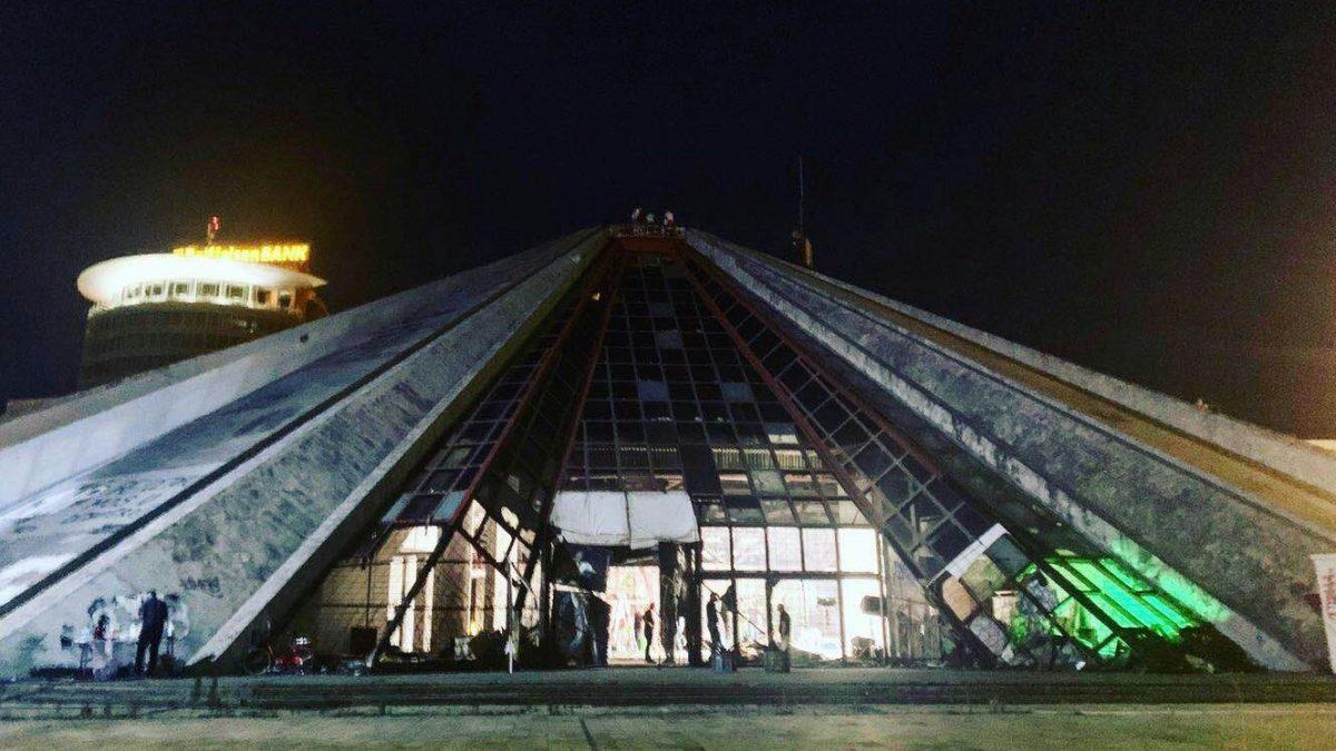 Filmmaking in the Pyramid of Tirana
