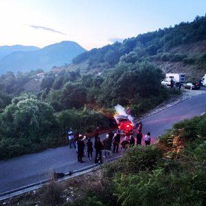 Albania - Car Crash Stunt