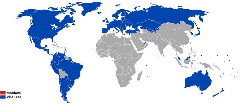 Moldova Visa Map