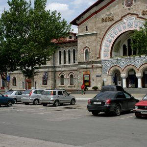 Moldova urban railway station